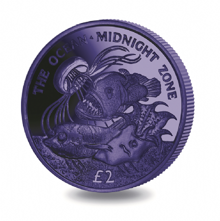 2016 South Georgia and South Sandwich Islands The Oceans Dark Blue The Midnight Zone Titanium £2